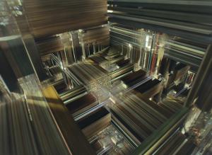 El teseracto de Interstellar, en la que Cooper podía moverse alrededor de la habitación (3D), y a través del tiempo (4D)